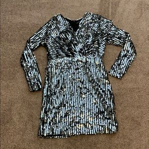 Boohoo Long sleeve sequin dress